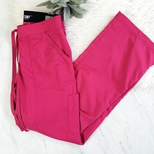Greys Anatomy Pink Cargo 4 Pocket Scrub Pants